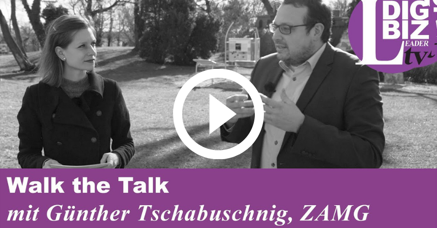 Günther Tschabuschnig beim DigBiz Leader Media Walk the Talk