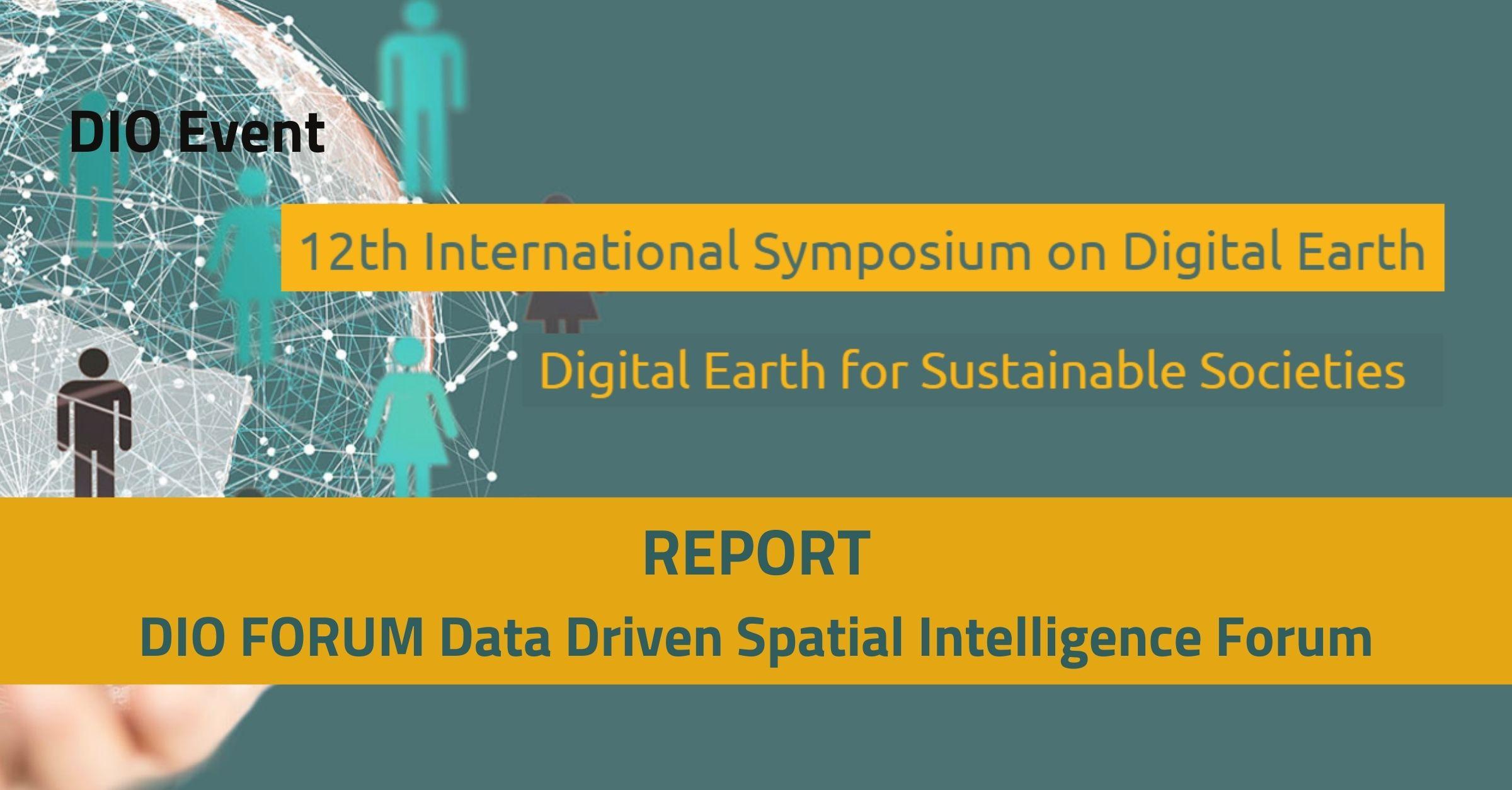 DIO FORUM Data Driven Spatial Intelligence Forum