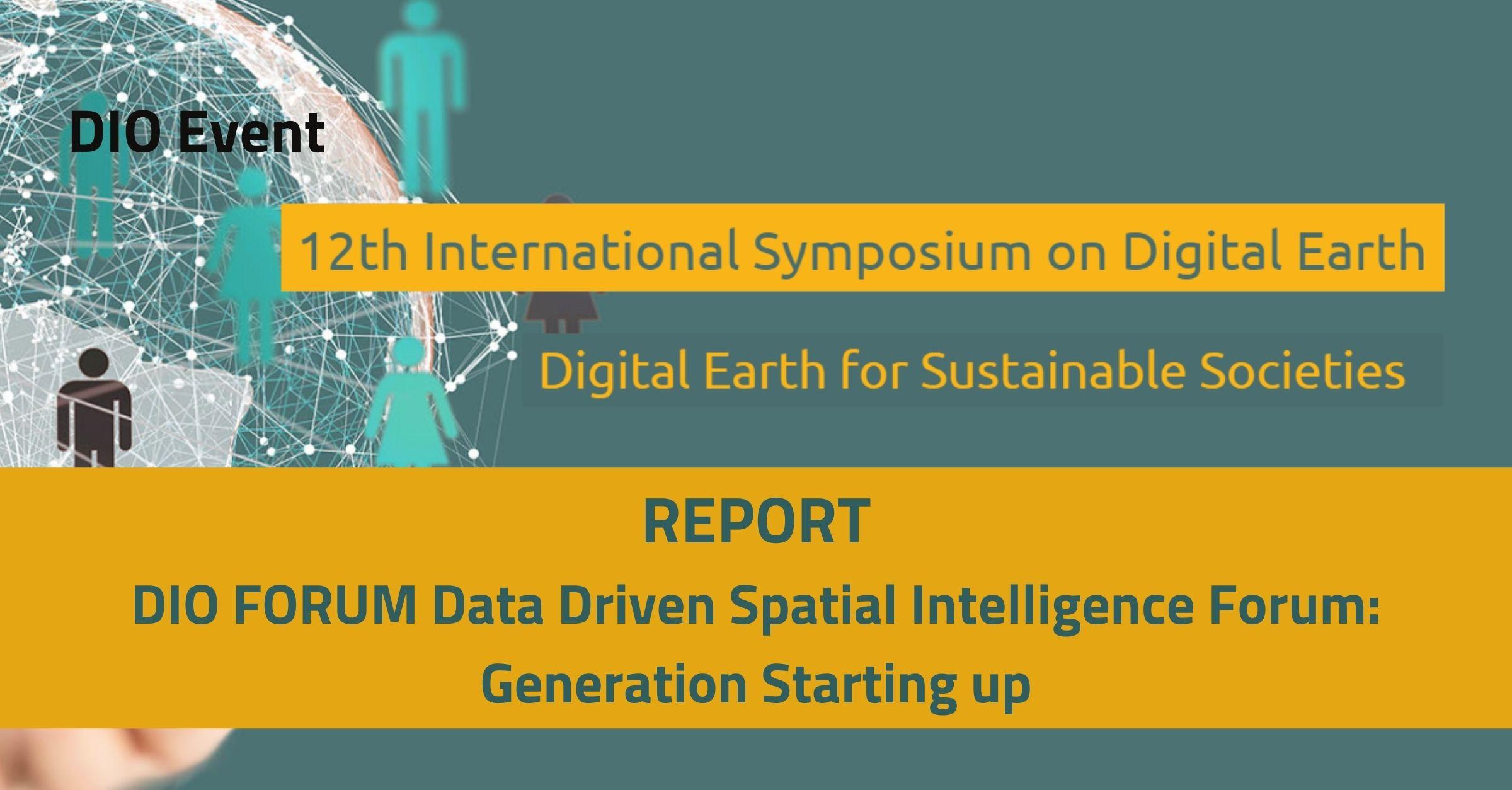 Data Driven Spatial Intelligence Forum: Generation Starting Up