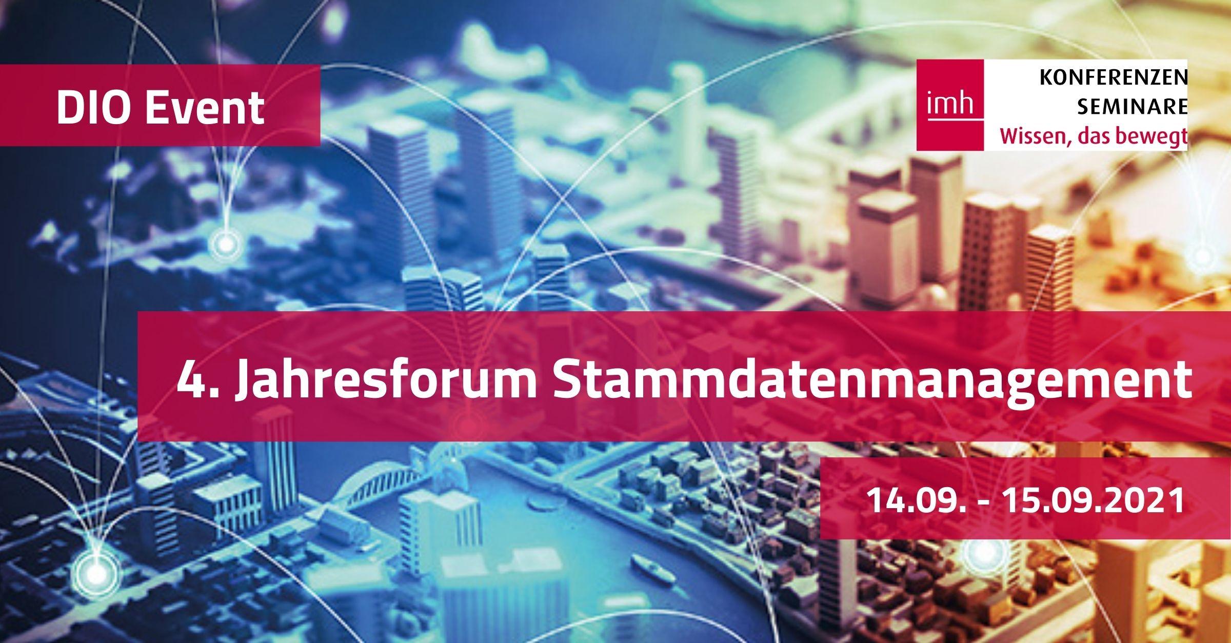 4. Jahresforum Stammdatenmanagement, 14.-15.09.2021
