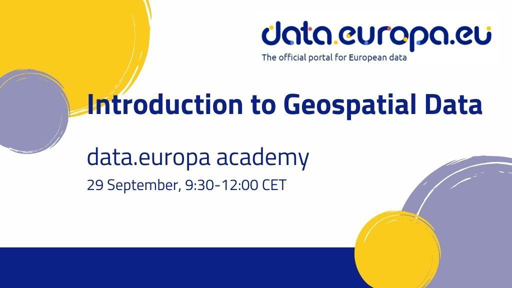 data.europa academy: Introduction to Geospatial Data