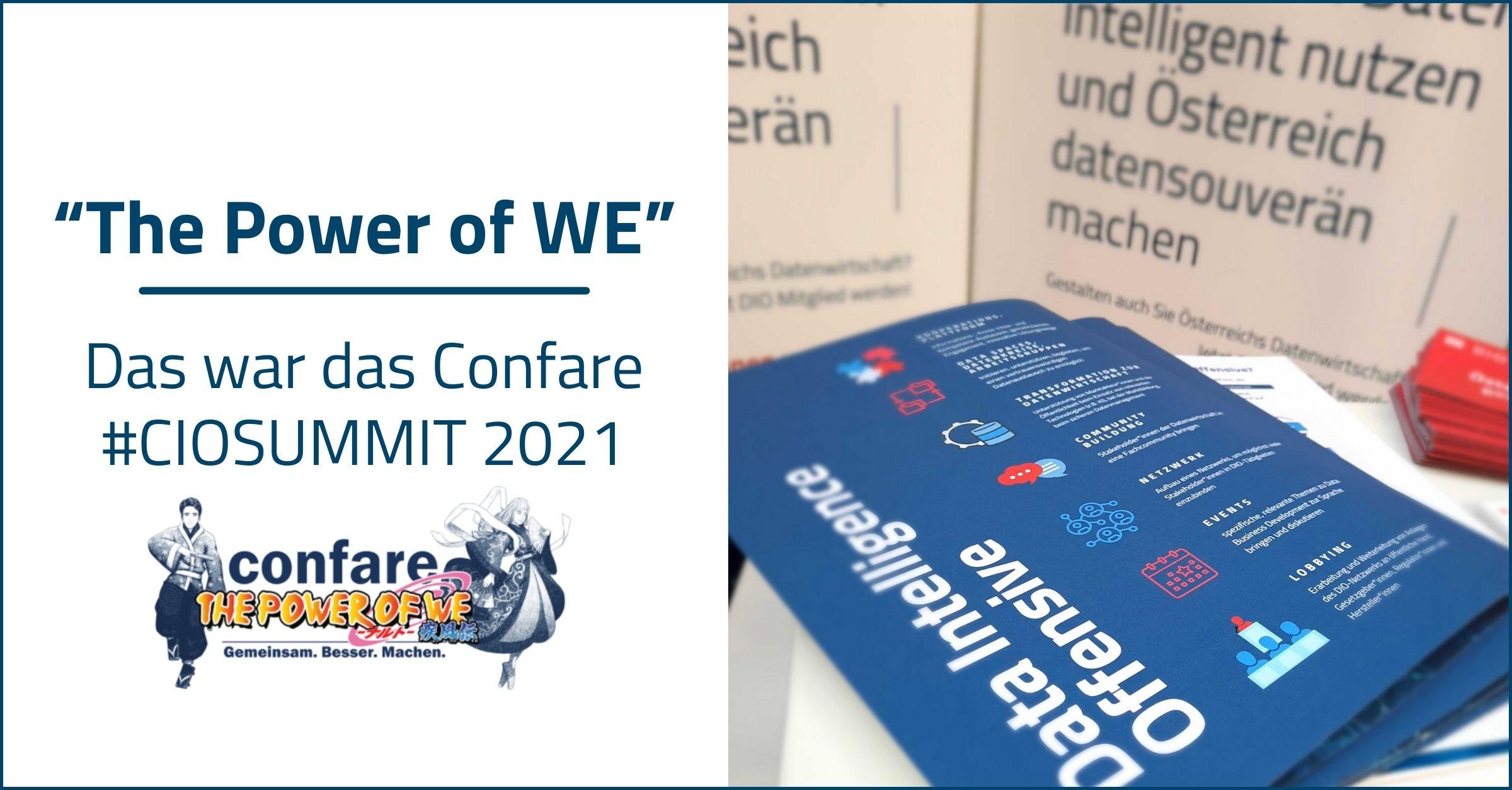 The Power of WE - Das war das Confare #CIOSUMMIT 2021